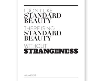 Standard Beauty Art Print