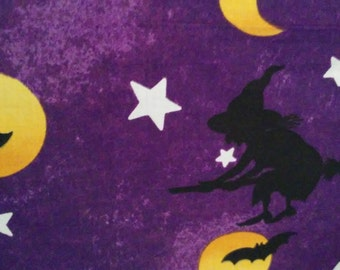 Halloween valance  witches and moon