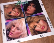 Poison - Look What The Cat Dragged In LP Original Vinyl Record Metal Glam Bret Michaels