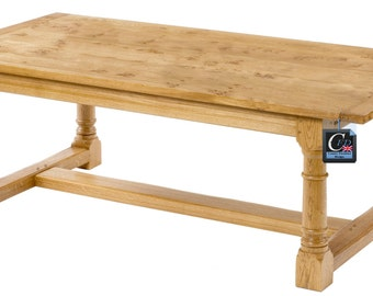 Handmade English Oak Refectory Table | Seats 8