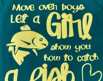 Girls fishing shirt