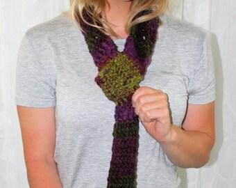 1093 Crocheted Neck Tie Scarf