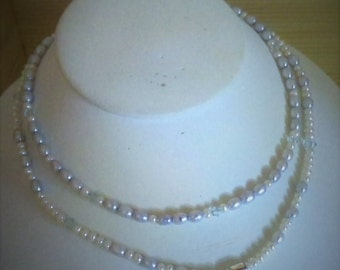 Pearl and Crystal Multistrand Child's Necklace