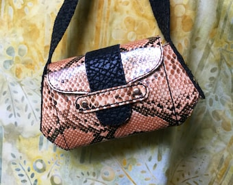 American Girl Doll Purse Faux Rattlesnake Ready to Ship