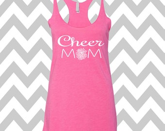Cheer Mom Tank Top Racerback Tri Blend Tank Cheerleader Shirt Love Cheer Tank Cheer Mom Shirt Cute Football Tee Game Day Tank Cheerleader