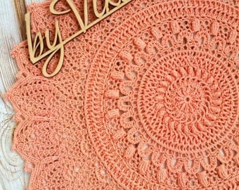 Crocheted Doily 48 cm cotton