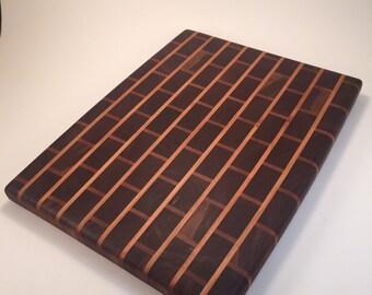 End Grain Brick Pattern Cutting Board
