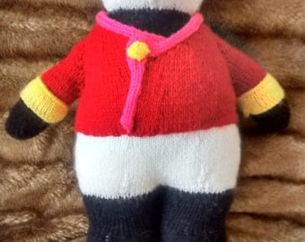 Hand knitted toy Panda