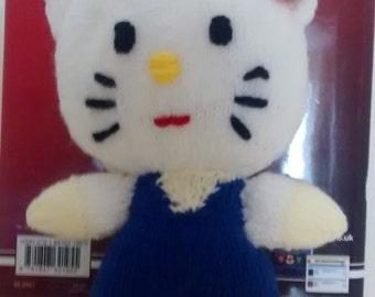 Hand made knitted toy Hello Kitty