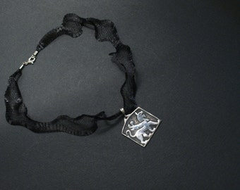 Handmade,unique,womens gift,jewelry,Eastern Anatolian Wall relief, handmade oxidized silver necklace.