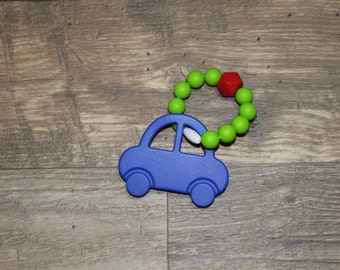 Silicone Teething Toy | Car | Modern | Perfect Gift | Handmade in Canada | Unique | Teething | Baby | Kenton Creations | Textured