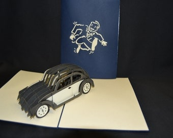 Car 3-d pop up card
