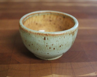 Handmade small pottery bowl - turquoise