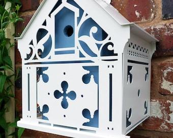 Gothic revival metalwork bird house
