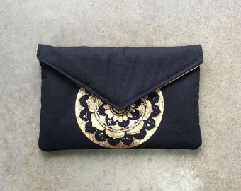 Black Mandala Clutch