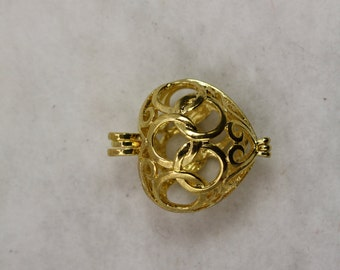 25 pcs Heart Shaped Cage Locket Wholesale High Quality Gold plate