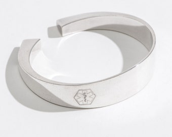 Medical Alert, Medical ID Bracelet, Personalized, Diabetes Bracelet, Jewelry, Vintage, Custom, Gift for Her, Gift for Mom, Medic Alert