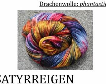 Handcolored sock wool