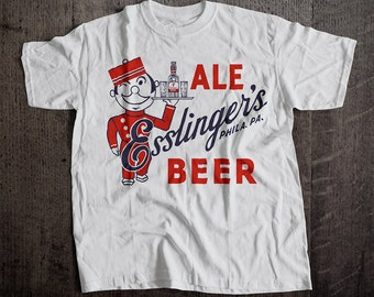 Esslinger's Ale Beer T-Shirt | Ringspun Unisex and Ladies Fit Tee | Vintage Bar and Brewery Label Clothing