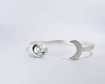 Satellite Bracelet in silver platted with Crystal stone