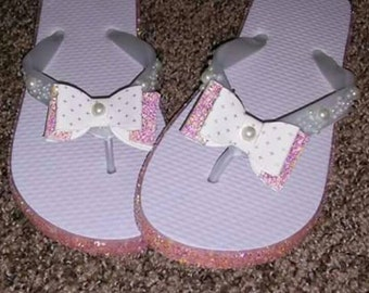 Pretty In Pink Custom Flip Flops