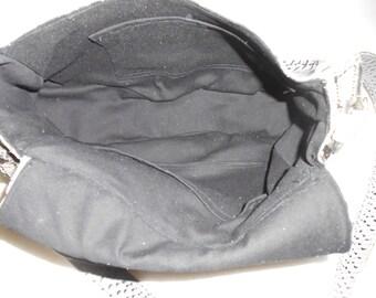 simulated python skin handbag