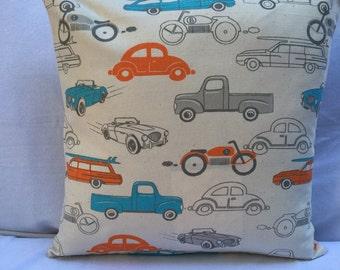 Vintage Cars & Trucks Pillow Cover