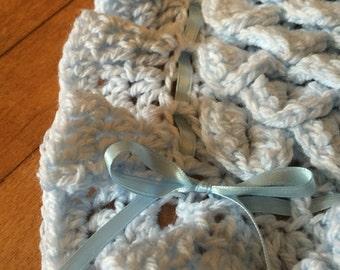 Blue Baby Blanket (Crochet)