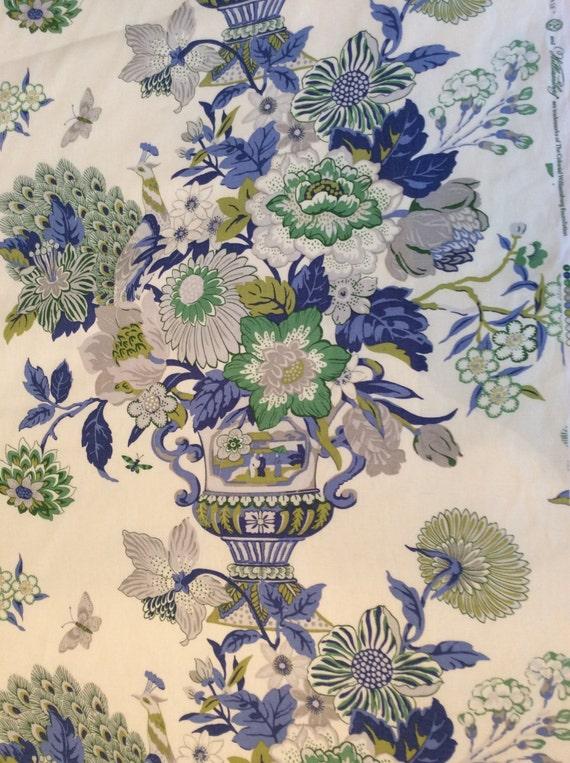2yds Portobello Vase....Laurel...100% Linen, Fabric by the yard