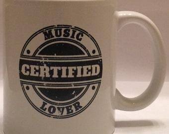 Certified Music Lover 11oz Ceramic Mug