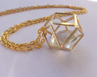 Polygon graphic necklace