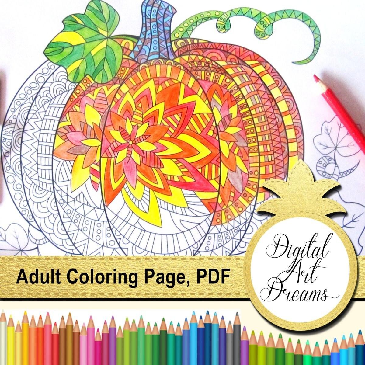 pumpkin coloring pages for adults printable pumpkins pumpkin