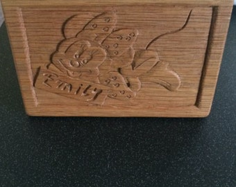 Minnie/ Mickey Hand Carved name Plaque
