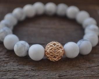 My princess bracelet Stretchy bracelet Gifts for her Girlfriend gift Marble beaded bracelet
