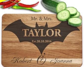 family cutting board Batman personalized cutting board wedding gift cutting board engraved cutting board wooden cutting board wood