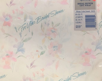Vintage Hallmark Gift Wrap - Bridal Shower