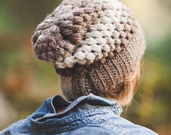 Crochet Puff Stitch Beanie