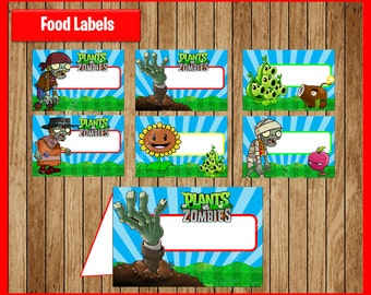 Plants vs zombies etsy for Table zombies pdf