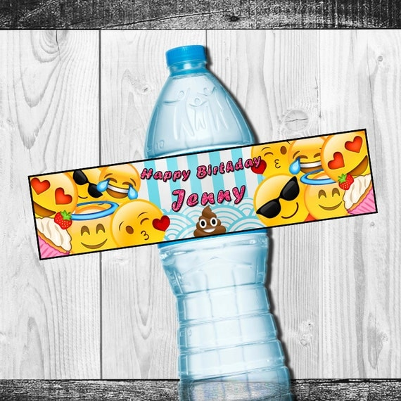 Emoji Happy Birthday Bottle Wrapper