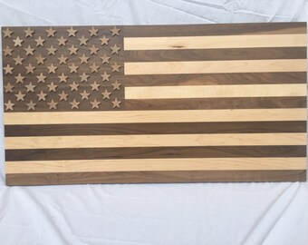 Executive Walnut & Maple American Flag