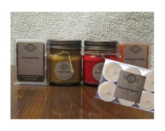 Candle Gift Set/ Personalized Gift/ Fall Gift/ SoyCandle Gift Set/ Choose Your Scent/ Personalized Gift Set