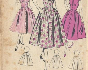 "1950s Vintage Sewing Pattern B34"" DRESS (154) Leach-Way 14031"