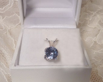Blue Spinel Pendant
