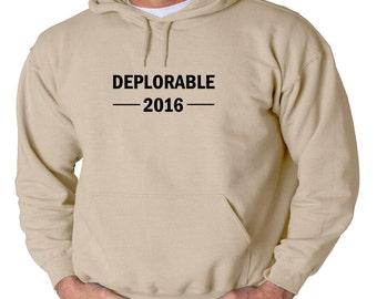 Deplorable 2016 Hoodie Political Anti Hillary Trump For President Sweatshirt New 2016 Election America Hooded Sweatshirt Donald Clinton