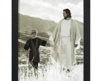 Heavenly Father walking a child