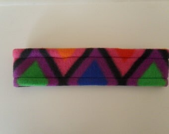 Colorful Triangles Fleece Headband **Ready2Ship**