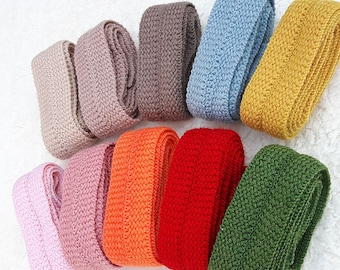 "1.2"" Wool ribbon-1/2/6 yard-Knitted ribbon tape 12color-Craftt Supplies-Wool binding-Ribbon tape trim-100% wool ribbon tape trim-RIBBONNKIDS"