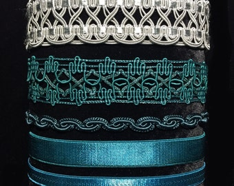 Unique Teal/Blue/Green Chokers
