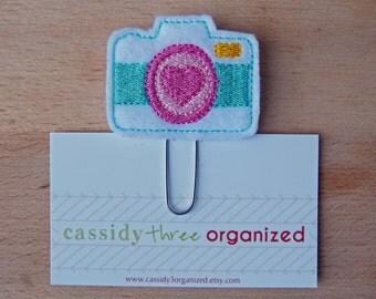 Camera Planner Clip, felt planner clip, bookmark, planner clip, planner accessory, organizer, organizer accessory, calendar, camera,