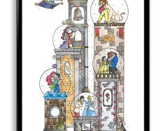 Disney Globe Scene Print/Poster (frame not included)
